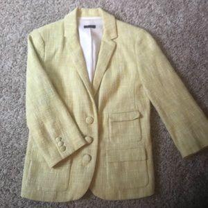 Yellow tweed J Crew blazer